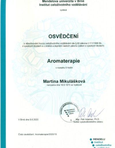 Aromaterapie certifikát